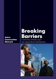 Breaking Barriers - Community Cohesion, Sport and organisational ...