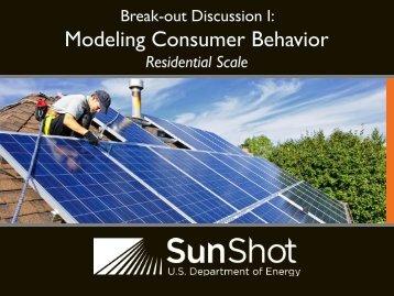 Break-out Discussion i: Modeling Consumer Behavior ... - EERE