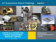Power Electronics and Thermal Management Breakout ... - EERE