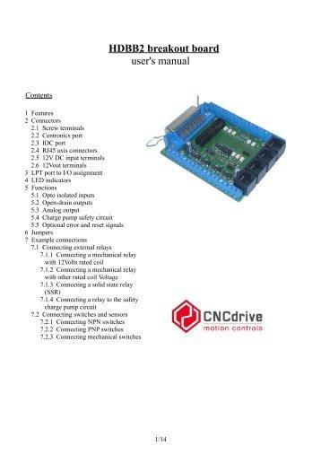 breakout board manual pdf cnc zone rh yumpu com Parallel Port Breakout Board SOIC Breakout Board
