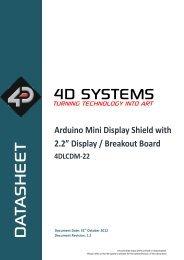 "Arduino Mini Display Shield with 2.2"" Display / Breakout Board"