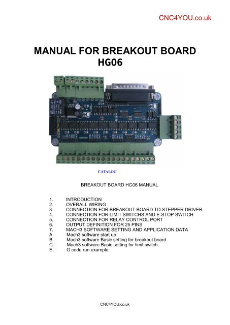 manual for breakout board hg06 - CNC4YOU for your CNC Parts