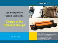 EV Everywhere Grand Challenge - Charge to the Breakout Groups