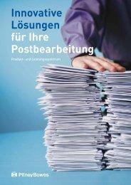 Innovative Lösungen für Ihre Postbearbeitung - Pitney Bowes