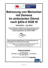 Betreuung von Menschen mit Demenz im ambulanten Dienst nach ...