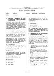 Niederschrift der Jahreshaupt- versammlung am 18.02.2005 - von ...