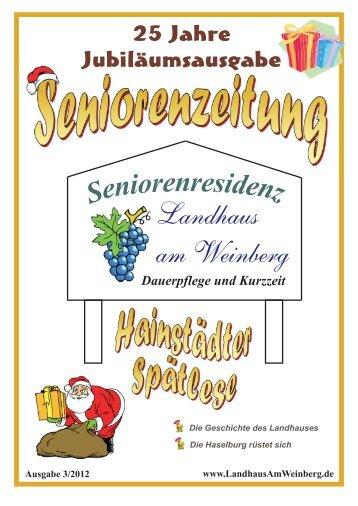 25 Jahre im Dienst des alten Menschen - Seniorenresidenz ...
