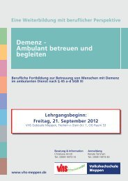 Demenz - Volkshochschule Meppen
