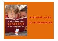 4. Düsseldorfer Lesefest 12. – 17. November 2012 - mootiv eV