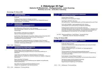 2. Oldenburger 3D-Tage - IAPG