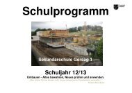 Schulprogramm Schuljahr 12/13 Umbauen - Schulen Emmen