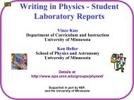 Writing in Physics - Student Lab Reports - School of Physics and ...