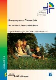 Kursprogramm Elternschule mein - EVK Mettmann