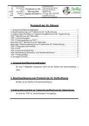 Protokoll der 23. Sitzung - Fachhochschule Erfurt