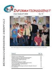 infodienst_nr_ 72_juli_august.pdf - Bezirksjugendring Oberpfalz