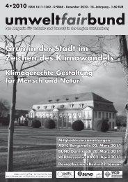 umweltfairbund 4-2010 - BUND Ortsverband Darmstadt