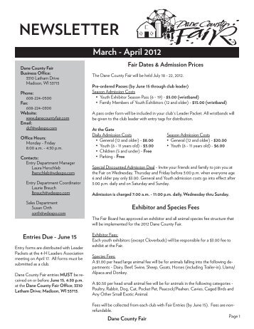 2012 March April Highlights.indd - For Your Information