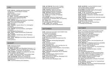 Veranstaltungskalender 2012 - 2. Halbjahr - Breuberg