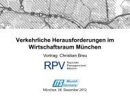 Verkehrliche Herausforderungen im Wirtschaftsraum ... - its munich