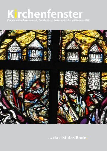Kirchenfenster - Evangelische Kirchengemeinde Welzheim