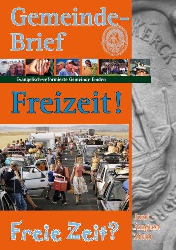 Gemeindebrief 03/2010 - Evangelisch-reformierte Kirche