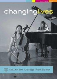 Changing Lives, summer 2008 - Newnham College