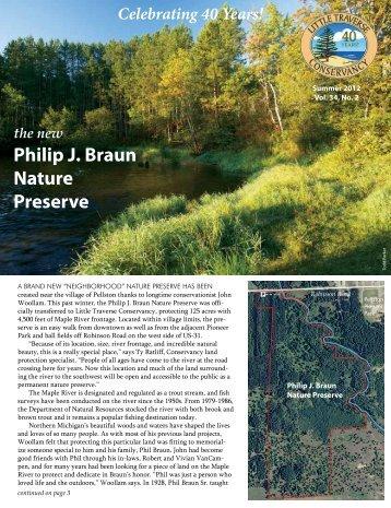 the new Philip J. Braun Nature Preserve - Little Traverse Conservancy