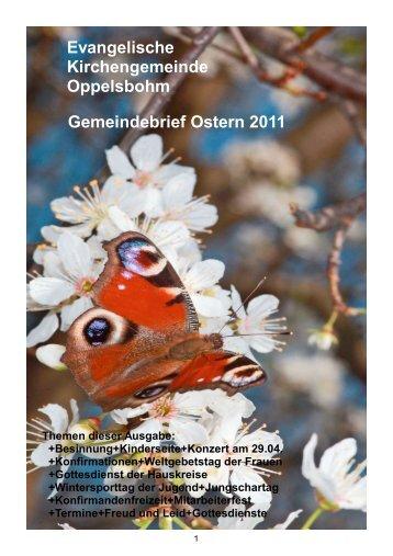 Gemeindebrief Ostern 2011 - Evangelische Kirchengemeinde ...