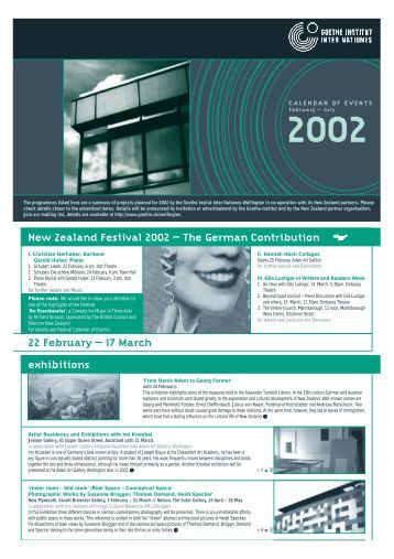 17 March New Zealand Festival 2002 - University of Otago
