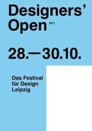 Das Festival für Design Leipzig Designers' Open 28. - Sabine Weier