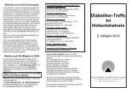 Diabetiker-Treffs im Hohenlohekreis - Deutscher Diabetiker Bund ...