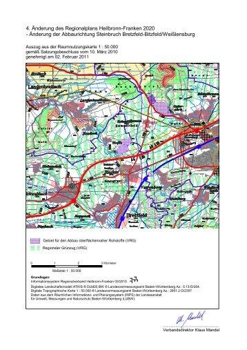 4. Änderung des Regionalplans Heilbronn-Franken 2020