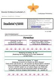 Deutsche Orchideen-Gesellschaft e.V. - Landesgruppe Württemberg