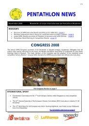 pentathlon news congress 2008