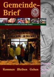 Gemeindebrief 05/2010 - Evangelisch-reformierte Kirche