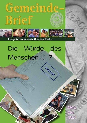 Gemeindebrief 01/2011 - Evangelisch-reformierte Kirche