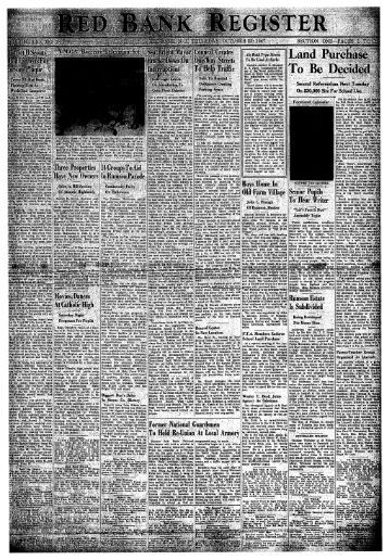 To Be Decided - Red Bank Register Archive
