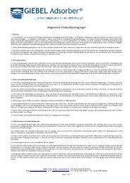 Allgemeine Einkaufsbedingungen - bei GIEBEL Adsorber
