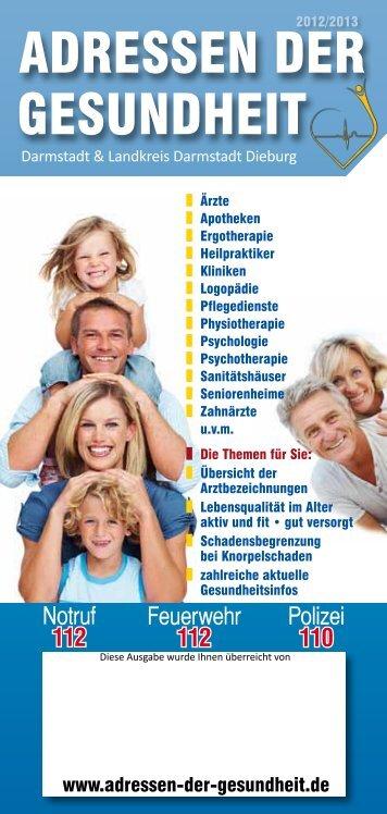 ADRESSEN DER GESUNDHEIT Darmstadt - Gesundheit Rhein-Main