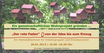 """""""Der rote Faden"""" von der Idee bis zum Einzug Ein ..."""