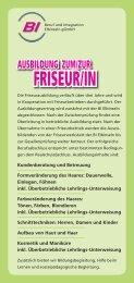 FRISEUR/IN - BI Elbinseln gGmbH