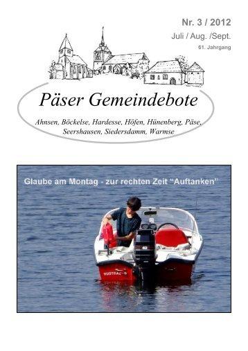 Nr. 3 / 2012 - Kirchengemeinde Päse - Home