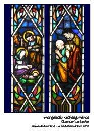 Rundbrief 6-2007 - Evangelische Kirchengemeinde Oberndorf am ...