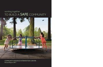 2011 Annual Report - Community Violence Intervention Center