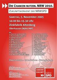 SAMSTAG, 5. November 2005 10.00 bis 15.30 Uhr ... - nrwspd.net