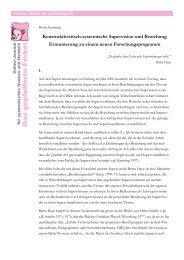 Konstruktivistisch-systemische Supervision und ... - Systemagazin