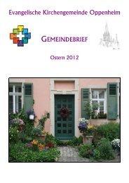 Gemeindebrief Ostern/Sommer 2012 - Evangelische ...