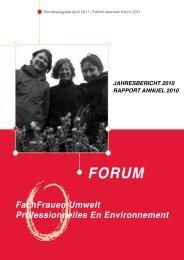 Jahresbericht 2010 - FachFrauen Umwelt