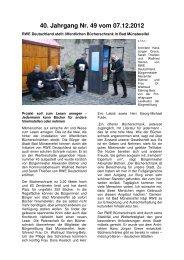 40. Jahrgang Nr. 49 vom 07.12.2012