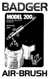 old style 200 instruction book - Badger Air-Brush Co.